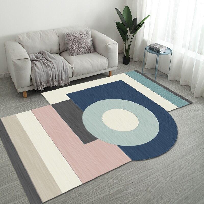 Nordic нерегулярные геометрический Коврик дома Гостиная коврики для ванной комнаты творческий Спальня прикроватные покрывало, плед исследование Йога Teppich коврик - Цвет: Style 10
