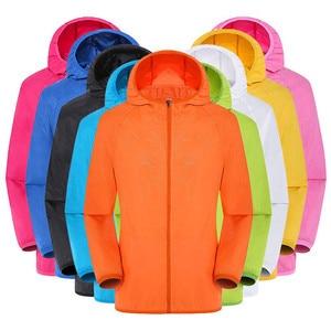 Image 2 - Men Women Adult Raincoat Men Women Casual Jackets Windproof Ultra Light Rainproof Windbreaker Top Environmental Rain Coat