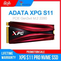 Твердотельный Накопитель ADATA XPG S11 Pro GAMMIX PCIe Gen 3x4 M.2 2280 для ноутбука Настольный внутренний жесткий диск 256G 512G M.2 SSD