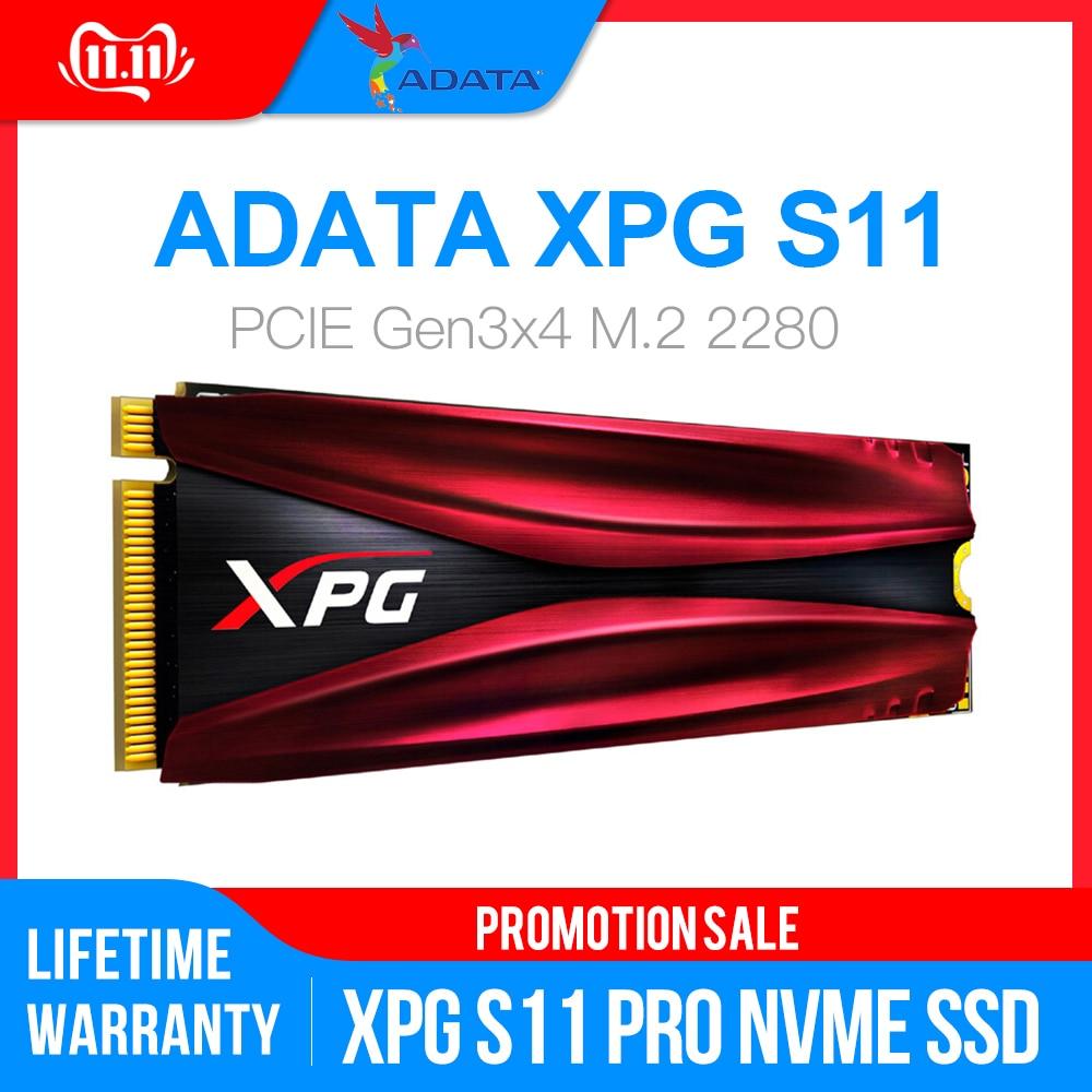 ADATA XPG S11 Pro GAMMIX PCIe Gen 3x4 M.2 2280 Solid State Drive For Laptop Desktop Internal Hard Drive 256G 512G M.2 SSD