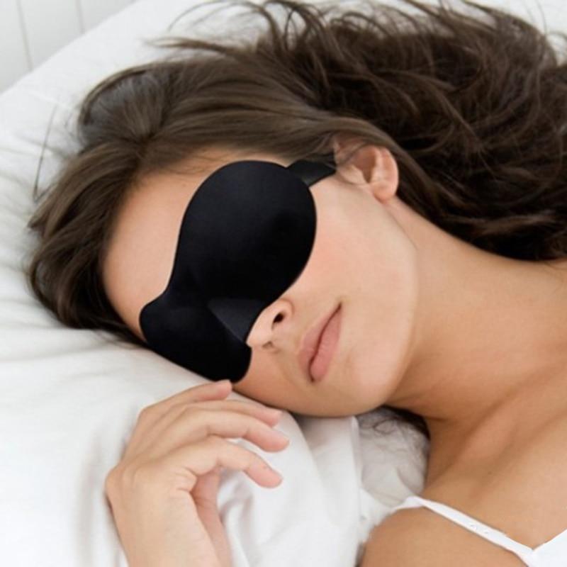 Sleep Eye Mask Sleeping Eye Blindfold Black Travel Sleep Aid Rest