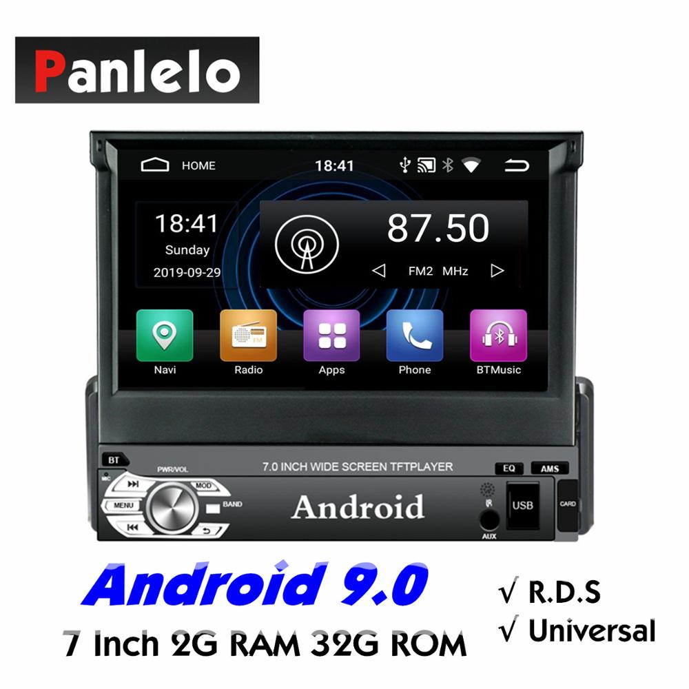 Panlelo Universal 1 Din Android Car Stereo Music Audio Player Android 9 7 inch Quad Core 1080HD GPS Navigation Audio Radio RDS image