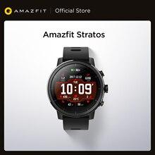 In Lager Amazfit Stratos Smartwatch 5ATM Wasserdichte Smart Uhr Bluetooth GPS Schritt Zähler Herz Monitor für Android iOS