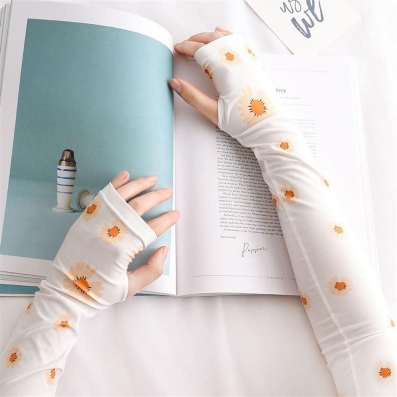 Fashion Arm Sleeves Summer Sports Safety UV Protection Ice Cool Running Cycling Driving Sleeve Cover For Outdoor Activities