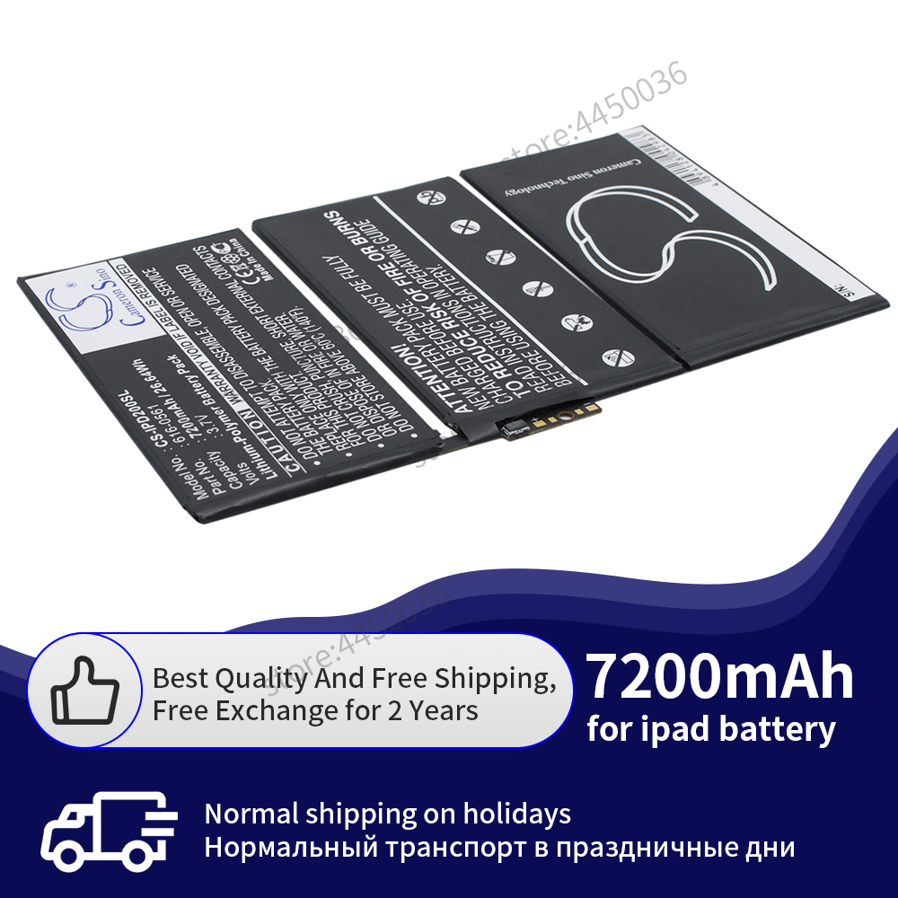 Original Tablet Battery for iPad 2 7200mAh <font><b>A1316</b></font> A1376 A1395 replacement battery for Apple iPad A1396 A1397 image