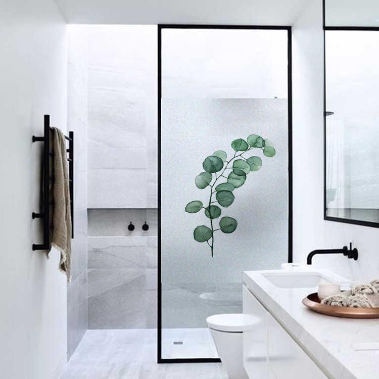 Película Patrón de planta para ventana, vinilo adhesivo estático, aislamiento térmico, Protección de Privacidad, decoración del hogar para puerta de escaparate
