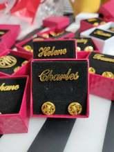 Spersonalizowane dostosowane nazwa listu przypinka broszki ze stali nierdzewnej tabliczka znamionowa złota Siliver Rose prezent broszka przypinki mężczyźni kobiety