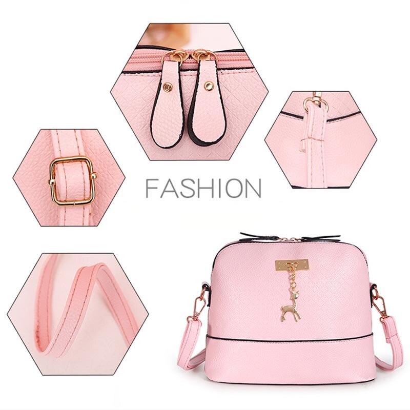 PU Leather Women Shoulder Bag Female Purse deer pendant Handbags Girl  Mini Crossbody Bag Vintage Small Mini Flap Bolsos 5