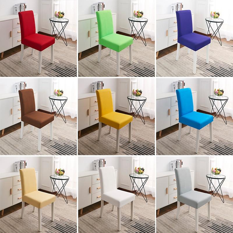Растягивающиеся спандекс съемные чехлы для стульев для столовой, чехлы для гостиной, вечерние, свадебные украшения, чехлы для стульев