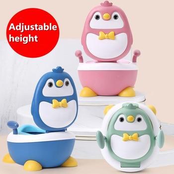 Baby Boy Children's Pot Cute Penguin Ajustable Height Baby Potty Training Seat Portable Toilet for Babies Girls Infantil