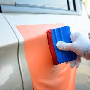 Image 5 - Foshio 20pcs 비닐 랩 카드 스퀴지 스페어 3 레이어 방수 패브릭 가장자리 자동차 창 색조 스크레이퍼 천 탄소 섬유 수호자