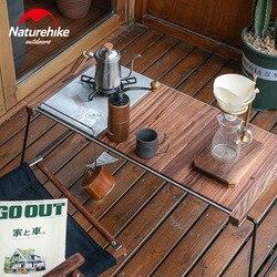 Naturehike открытый портативный кемпинг стол для пикника сменная рама комбинированный деревянный стол для барбекю
