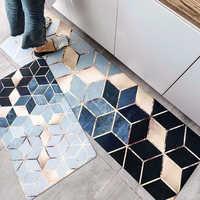 Resistente al agua y al aceite cocina alfombrilla antideslizante alfombra de baño de dormitorio alfombra de piso sala de cuero de PVC alfombra felpudo Cocina