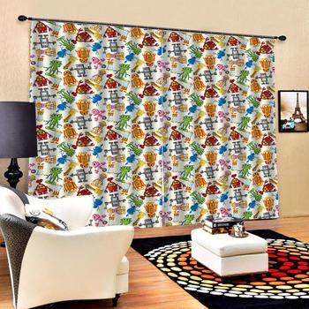 cartoon curtains Luxury Blackout 3D Window Curtain For Living Room kids curtains Decoration curtains
