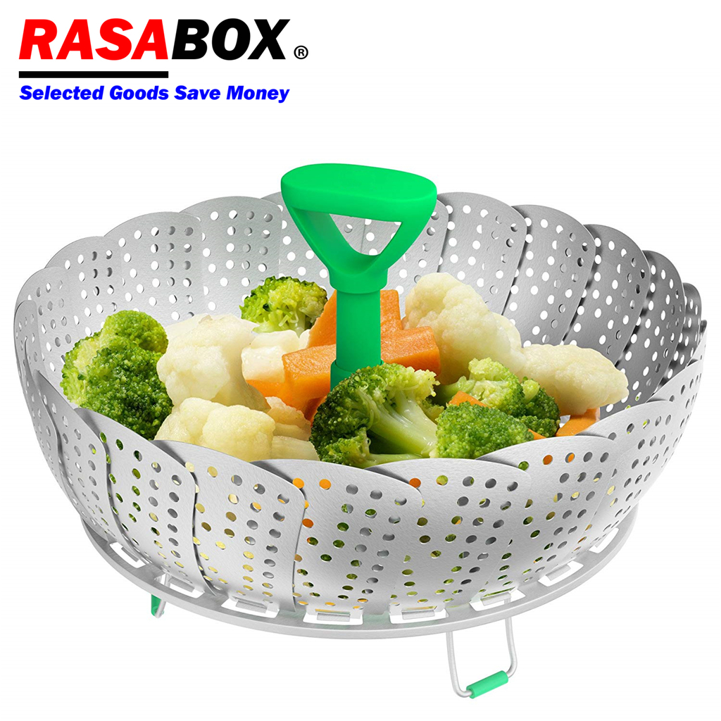 RASABOX - Steamer Cookware, Lotus Steamer Basket For Steaming Food And Vegetable, Folding Instant Pressure Cookers, Kitchen