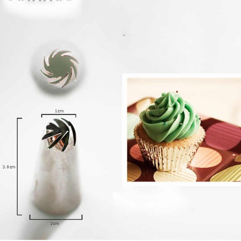 1 Pcs DIY เกลียวท่อ ake ครีมดอกไม้หัวฉีดเค้กชุดตกแต่งเคล็ดลับไอซิ่งท่อหัวฉีดเค้ก Sugarcraft Pastry เครื่องมือ