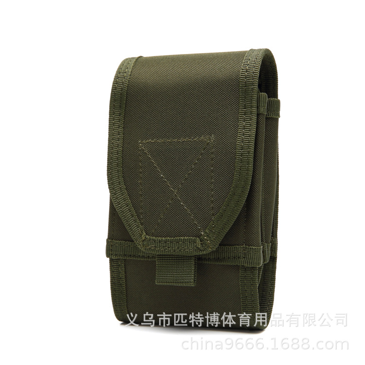 Bone Frog Produced Outdoor Large Screen Double Layer Mobile Phone Bag Multi-functional Army Fans Tactical Waist Pack Wear Leathe