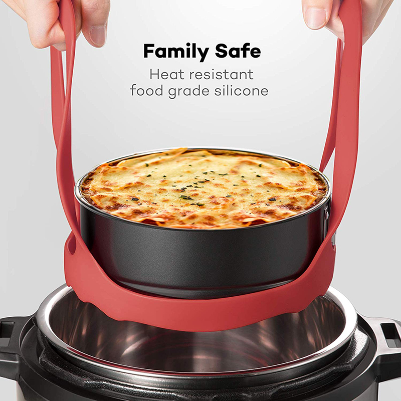 Pressure Cooker Sling Silicone Bakeware Lifter Accessories Cookers Kitchen Anti-slip Drain Pad Heat Insulated Mat Egg Rack