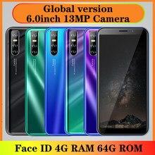 A21s 4g ram 64g rom mtk grande tela quad core 13mp original smartphone face id telefone celular desbloqueado telefones android wifi