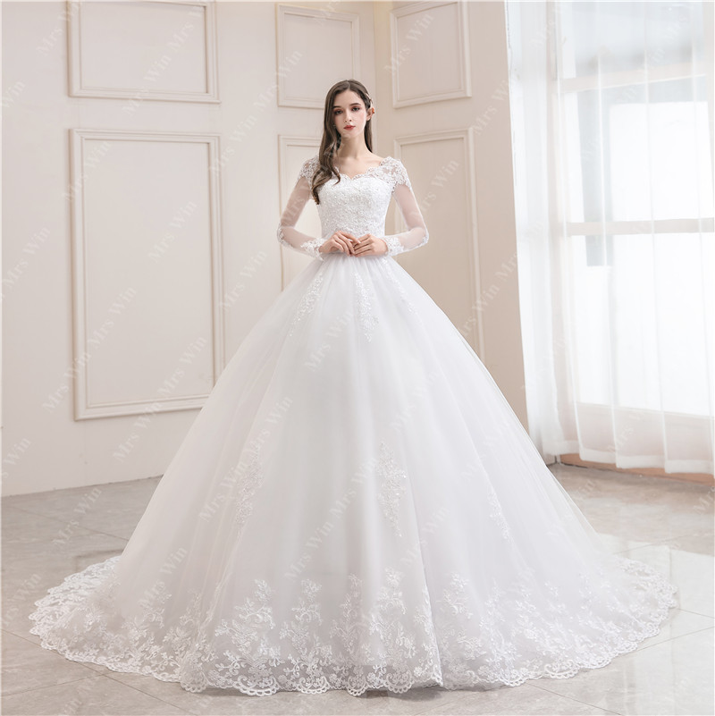 Mrs Win 2020 New Wedding Dress Clear Stock Pure White Size 6 11 Design For Choice