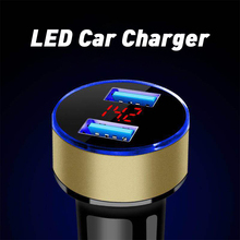 3.1A двойное USB Автомобильное зарядное устройство с синим индикатором света мульти-защита универсальный для автомобилей 12V 24V