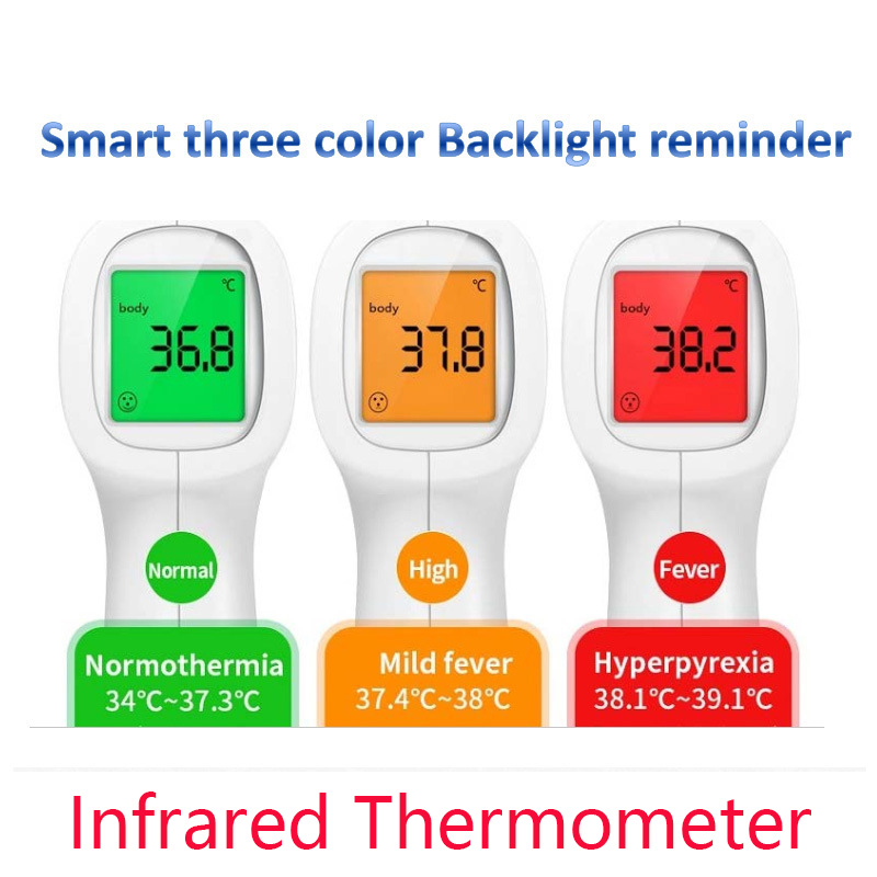 CE Certification Baby/Adult IR Infrared Digital Thermometer Forehead Intelligent Body Temperature Gun Non-contact Measurement