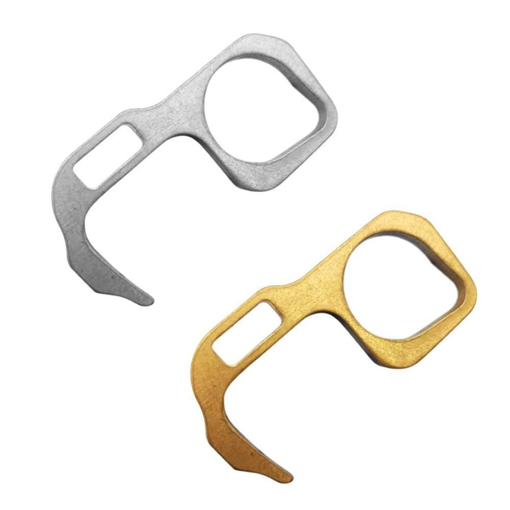 1Pc Hygiene Hand Antimicrobial Brass Edc Door Opener Portable Elevator Door Handle Keys For Home Non Contact Safety Tools