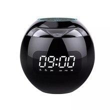 Mini Bluetooth Lautsprecher Drahtlose Bluetooth Sound box mit LED Uhr Display Wecker Hifi TF Karte MP3 Musik Spielen
