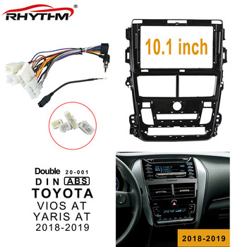 10.1 Inch 2din Car Fascia For TOYOTA VIOS AT 2018-2019 Panel Double Din DVD Frame Dash Installation For YARIS AT 2018-2019 image