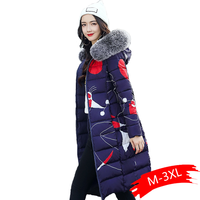 Both Two Sides Can Wear Winter Jacket Women With Fur Collar Hooded lady Coat Coats Long   Parka   2019 High Quality Female   Parkas