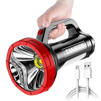 LED Leistungsstarke Taschenlampe Camping USB Aufladen Ultra Helle Starke Licht Outdoor Angeln Lampe Wasserdichte COB Seite Licht Wandern
