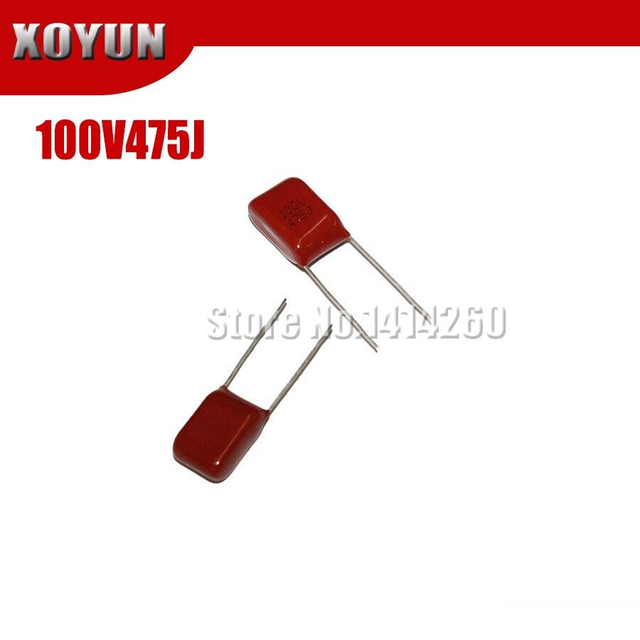 5PCS 100V475J 475J 4.7UF Pitch 10mm 475J 100V CBB Polypropylene Film Capacitor