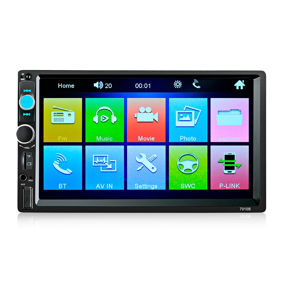 <font><b>7010B</b></font> 7 Inch Bluetooth V2.0 TFT Screen 12V Car Audio Stereo MP5 Player Auto Video with Rearview Camera image