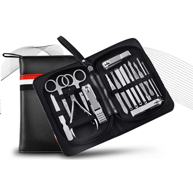 Nail Art Tools Scissors Manicure Pedicure Knife Professional Personal Care Stainless Steel 16 Pieces/Set