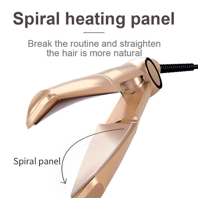 New Spiral Hair Straightener Curling And Straightening Dual-purpose Splint Four-speed Temperature Control Curling Iron 3