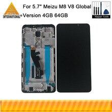 """5.7 """"oryginał dla Meizu M8/V8 Pro wersja globalna 4GB 64GB Axisintern wyświetlacz LCD ramka ekranu + Digitizer Panel dotykowy M813h/Q"""