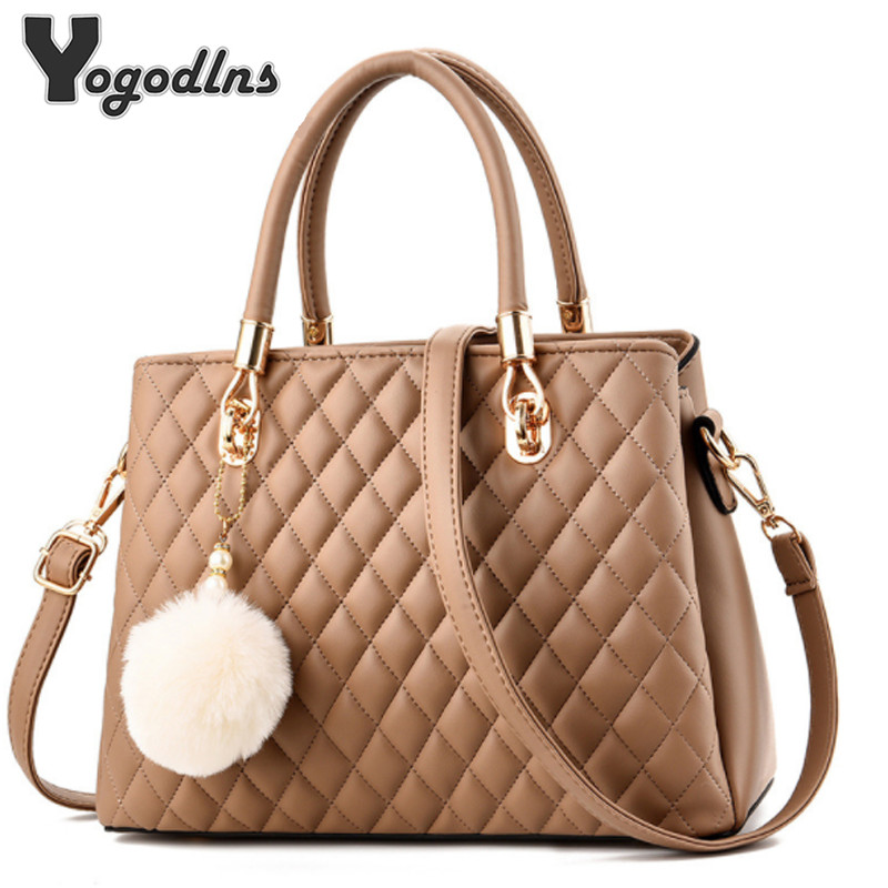 Designer Handbags Women PU Leather Shoulder Bag Ladies Fashion Crossbody Bag With Hairball Casual Tote Shoulder Bag Female