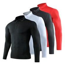 2021 Summer Golf Wear Quick Dry Long Sleeve T Shirt Lapel Breathable Polyester Golf Shirt Outdoor Male Golf Shirt Casual T-Shirt