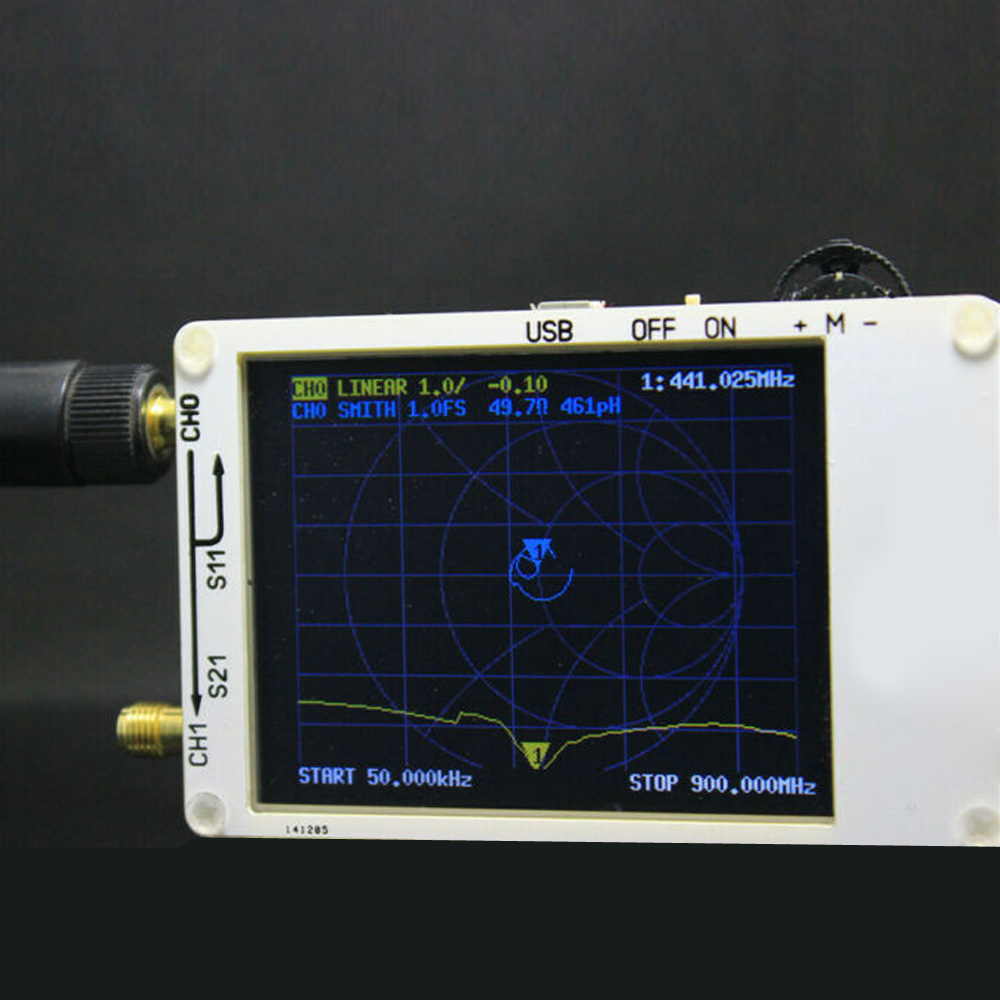 2019 nouvelle antenne d'analyseur de réseau de vecteur UV de haute qualité nanovna VNA HF VHF UHF + logiciel PC nouveau