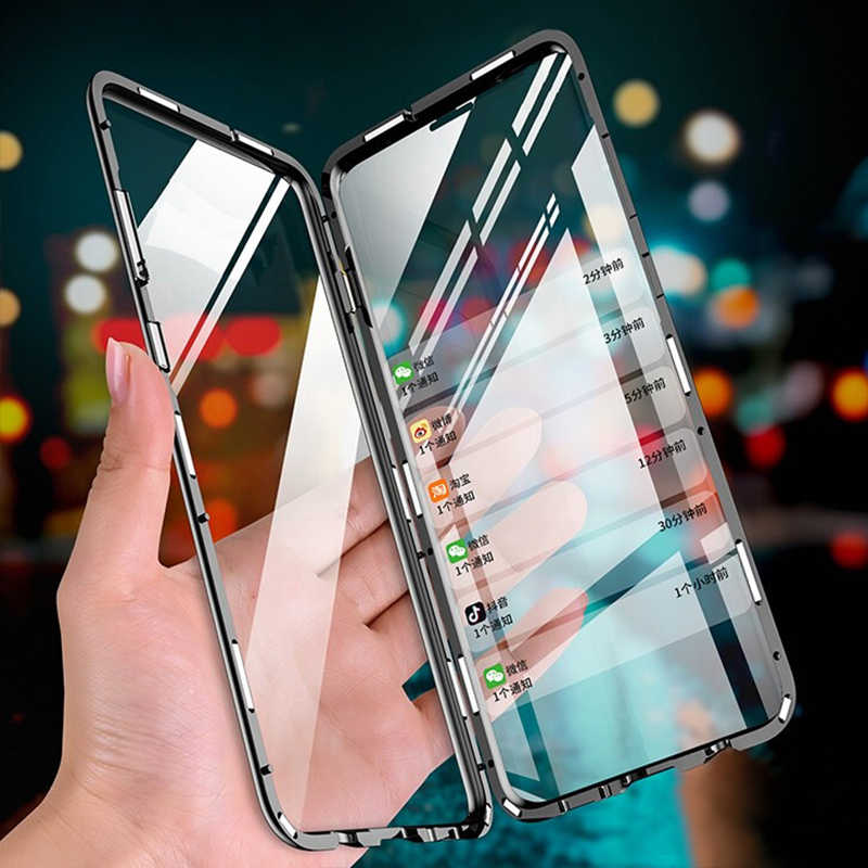 Voor Oppo Reno Ace Flip Case Oppo Realme Q 5pro Schokbestendig Gehard Glas Voor Oppo V17 Pro A5 A9 2020 a11 A11x A7 A5s F9 Shell