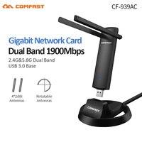 RTL8814AU Gigabit 2.4G/5.8GHz Çift Bant Desteği 802.11 ac 1900Mbps USB 3.0 WI-FI Wifi Kablosuz Adaptör AP Tekrarlayıcı Ağ Kartı