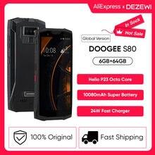 DOOGEE-teléfono inteligente S80, móvil con carga inalámbrica, NFC, 10080mAh, 5,99 pulgadas, FHD, Helio P23, ocho núcleos, 6GB, 64GB, 16.0MP, IP68/IP69K, Cargador rápido de 24W