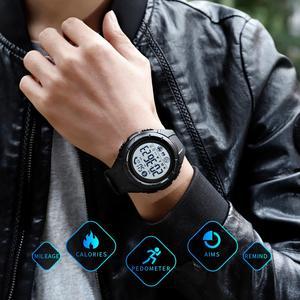 Image 5 - SKMEI reloj inteligente para hombre, dispositivo con control de ritmo cardíaco durante el sueño, resistente al agua, Digital, Android e IOS