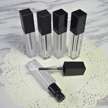 6ml square shape lip tube lip gloss tube with black lid for lip oil/lip gloss cosmetic packing