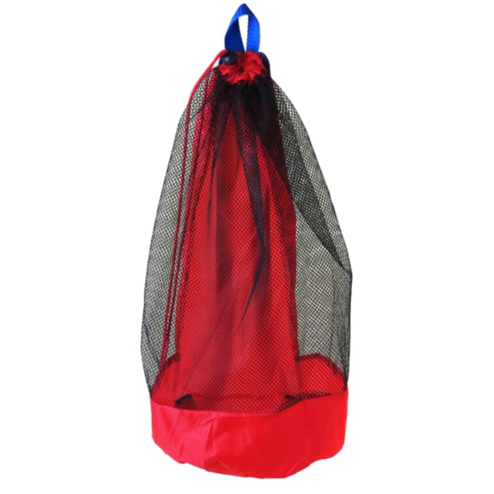 Sand Toy Storage Portable Mesh Bag Backpack Sports Outdoor Kids Organizer Net Large Capacity Drawstring Water Fun Children