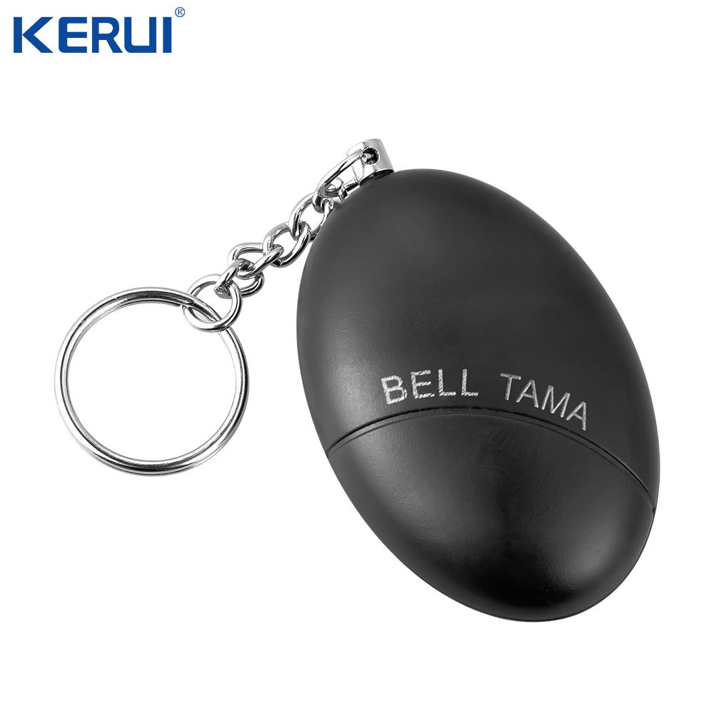 Kerui Self Defense Button SOS Panic Button Personal Anti-Attack Egg Shape Key Chain Security Alarm System For Girl Child