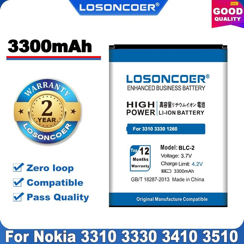 100% Original LOSONCOER BLC-2 Battery For Nokia 3310 3330 3410 3510 5510 3530 3335 3686 3685 3589 3315 3350 3510 6650 6800 3550(China)