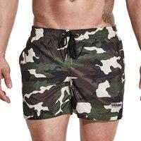 Camouflage Men's Swim Shorts Swimwear Beach Wear Bermuda Surf Board Swim Shorts Swimsuit