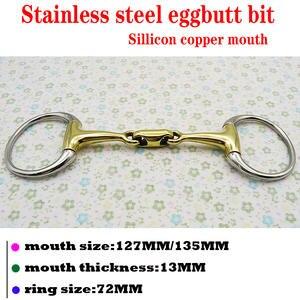 Stainless-Steel with Elliptical-Link.horse-Product BT0314 Eggbutt-Bit Sillicon Eggbutt-Bit