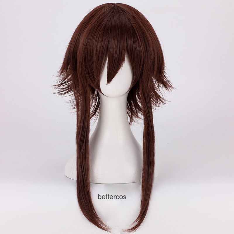KonoSuba God's Blessing On This Wonderful World Megumin Cosplay Wigs Dark Red Brown Heat Resistant Synthetic Hair Wig + Wig Cap